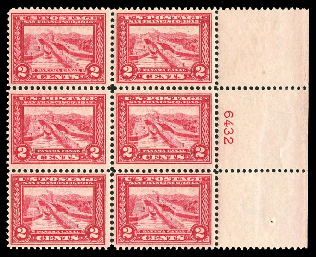 Price of US Stamp Scott Catalogue # 398 - 2c 1913 Panama-Pacific Exposition. Cherrystone Auctions, Jul 2015, Sale 201507, Lot 2145