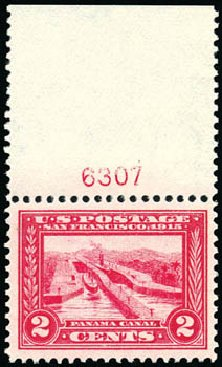 US Stamp Value Scott #398: 1913 2c Panama-Pacific Exposition. Schuyler J. Rumsey Philatelic Auctions, Apr 2015, Sale 60, Lot 2805
