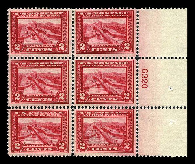 Cost of US Stamp Scott Catalog 398 - 1913 2c Panama-Pacific Exposition. Harmer-Schau Auction Galleries, Aug 2015, Sale 106, Lot 1793