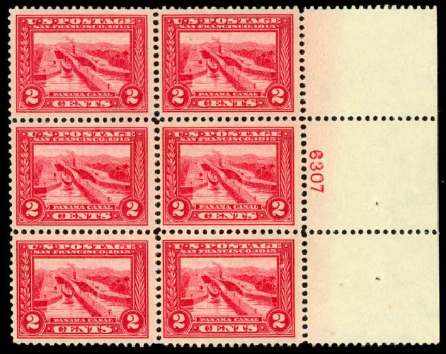Prices of US Stamps Scott Cat. 398 - 2c 1913 Panama-Pacific Exposition. Daniel Kelleher Auctions, May 2014, Sale 652, Lot 603