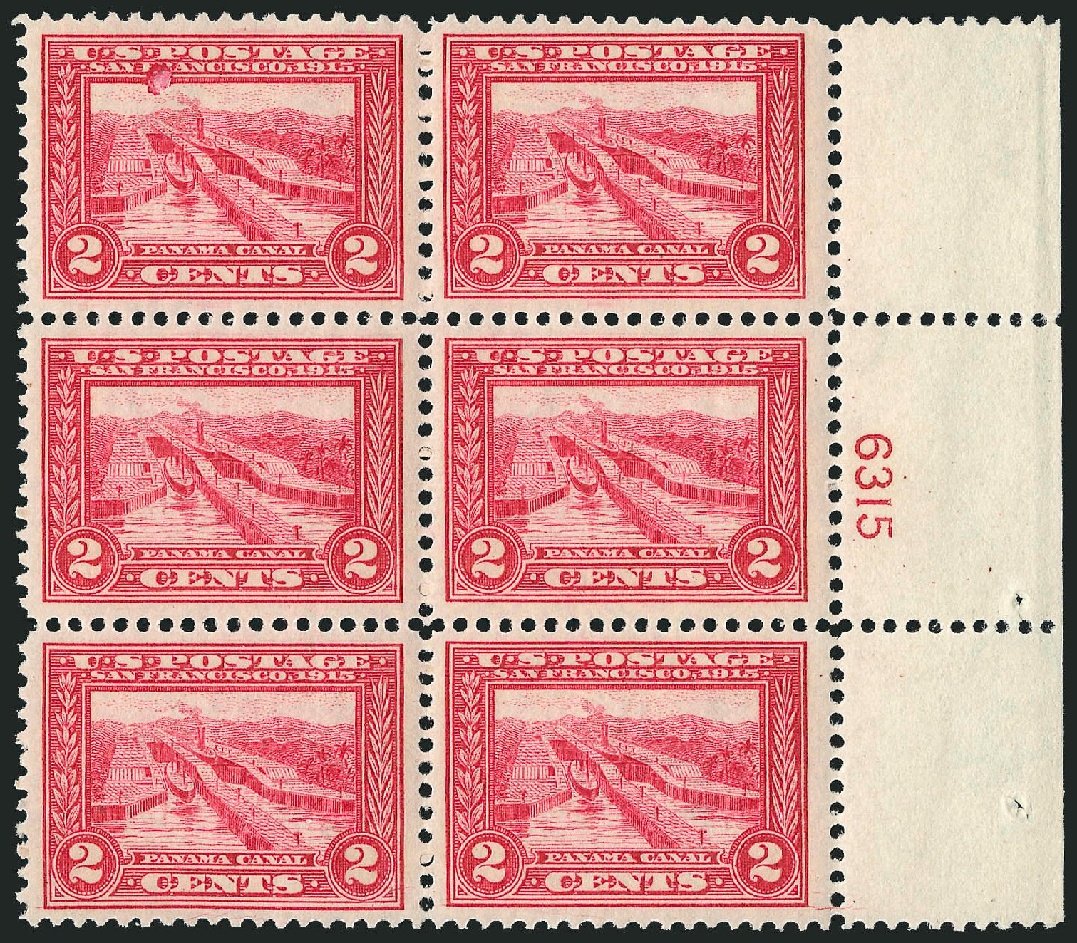 US Stamps Values Scott Cat. 398: 2c 1913 Panama-Pacific Exposition. Robert Siegel Auction Galleries, Feb 2015, Sale 1093, Lot 233