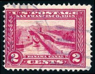 Value of US Stamps Scott # 398 - 2c 1913 Panama-Pacific Exposition. Schuyler J. Rumsey Philatelic Auctions, Apr 2015, Sale 60, Lot 2366