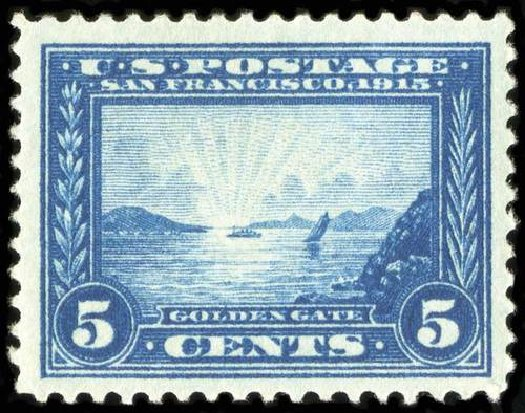 Value of US Stamps Scott Catalog # 399 - 1913 5c Panama-Pacific Exposition. Spink Shreves Galleries, Jul 2015, Sale 151, Lot 287