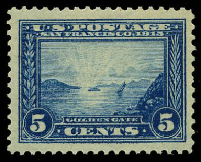 US Stamps Prices Scott Catalogue # 399 - 5c 1913 Panama-Pacific Exposition. Daniel Kelleher Auctions, May 2015, Sale 669, Lot 2971