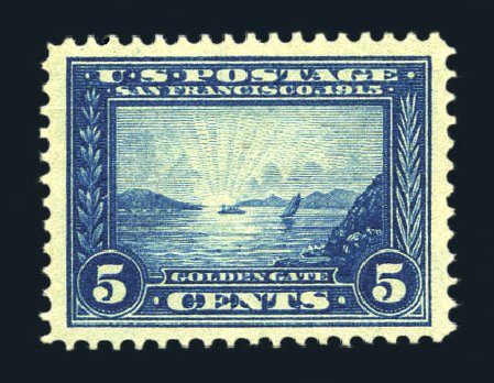 Cost of US Stamps Scott Catalogue # 399 - 5c 1913 Panama-Pacific Exposition. Harmer-Schau Auction Galleries, Aug 2015, Sale 106, Lot 1794