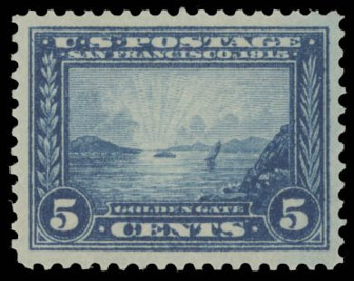Price of US Stamp Scott Catalogue 399 - 5c 1913 Panama-Pacific Exposition. Daniel Kelleher Auctions, Aug 2015, Sale 672, Lot 2704
