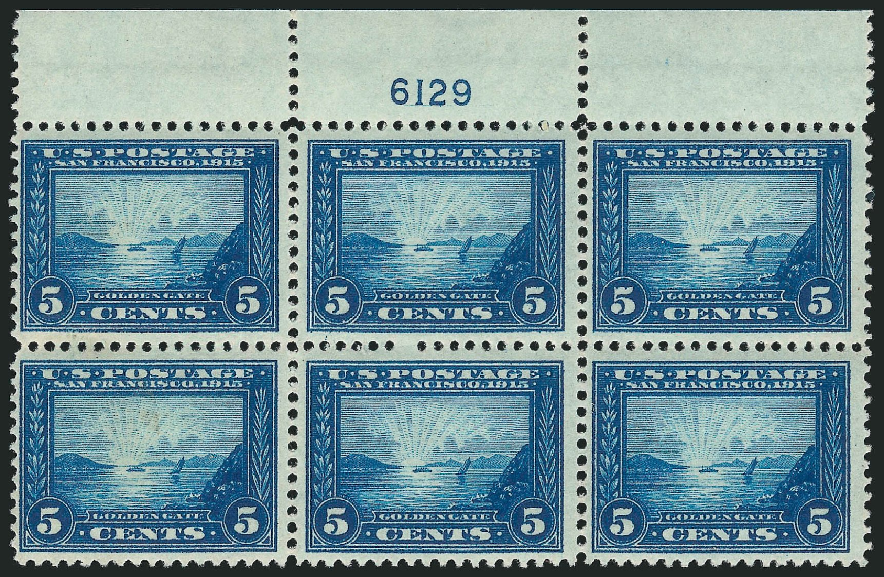 Values of US Stamps Scott Catalogue #399 - 5c 1913 Panama-Pacific Exposition. Robert Siegel Auction Galleries, Apr 2015, Sale 1096, Lot 646