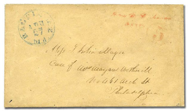Costs of US Stamps Scott Cat. # 3XU2 - 1845 5c Baltimore Postmasters Provisional. Matthew Bennett International, Feb 2012, Sale 340, Lot 4