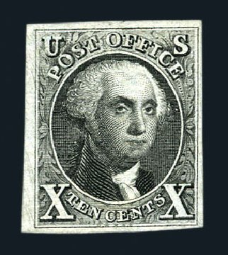 Costs of US Stamp Scott Cat. #4 - 10c 1875 Washington. Harmer-Schau Auction Galleries, Aug 2015, Sale 106, Lot 1257