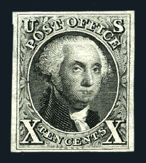 US Stamp Price Scott #4 - 1875 10c Washington. Harmer-Schau Auction Galleries, Aug 2015, Sale 106, Lot 1258