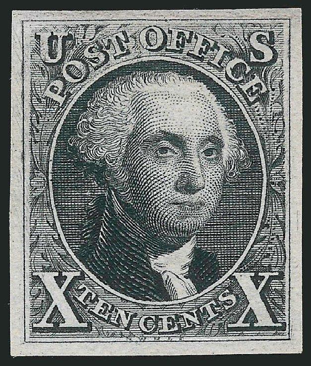 US Stamps Values Scott Catalogue # 4: 10c 1875 Washington. Robert Siegel Auction Galleries, Feb 2015, Sale 1092, Lot 1008