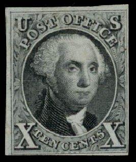 US Stamp Prices Scott #4 - 10c 1875 Washington. Daniel Kelleher Auctions, Jan 2015, Sale 663, Lot 1214