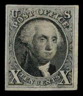 US Stamps Price Scott Catalog #4 - 1875 10c Washington. Daniel Kelleher Auctions, May 2015, Sale 669, Lot 2365
