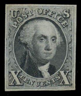 Price of US Stamp Scott 4: 1875 10c Washington. Daniel Kelleher Auctions, Jan 2015, Sale 663, Lot 1212