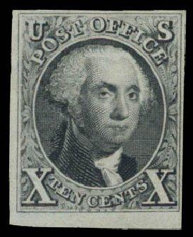 US Stamp Price Scott 4: 10c 1875 Washington. Daniel Kelleher Auctions, Aug 2015, Sale 672, Lot 2112