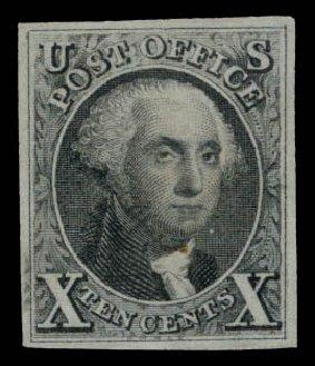 Costs of US Stamps Scott Cat. # 4 - 10c 1875 Washington. Daniel Kelleher Auctions, Aug 2015, Sale 672, Lot 2113