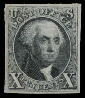 Price of US Stamp Scott Catalogue #4 - 1875 10c Washington. Daniel Kelleher Auctions, Dec 2014, Sale 661, Lot 16