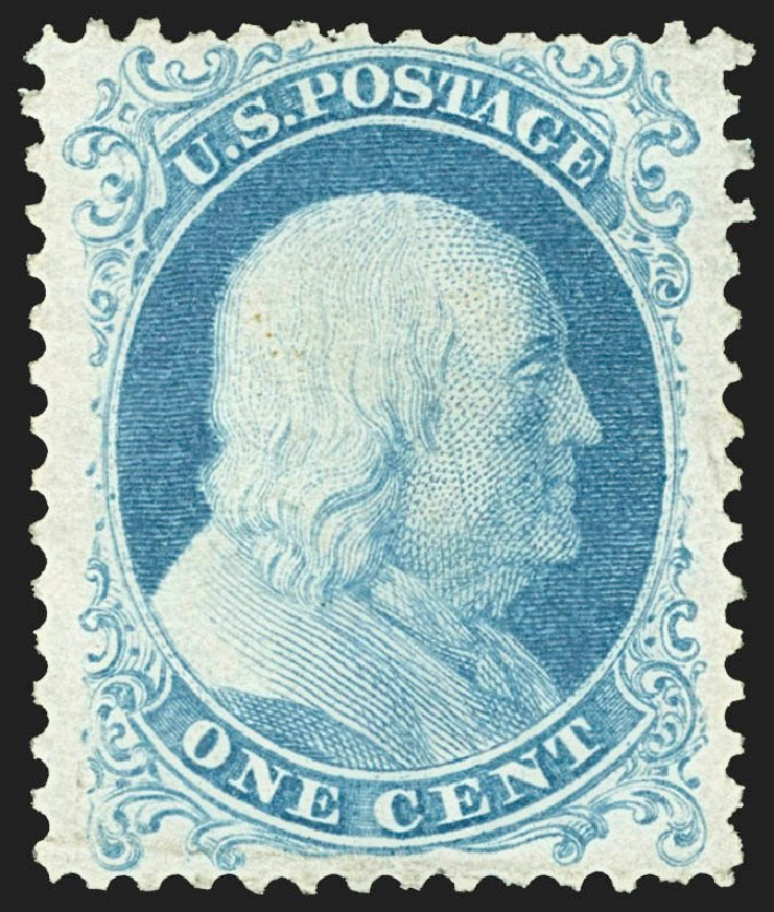 Value of US Stamp Scott Catalog 40: 1c 1875 Franklin Reprint. Robert Siegel Auction Galleries, Jul 2015, Sale 1107, Lot 108