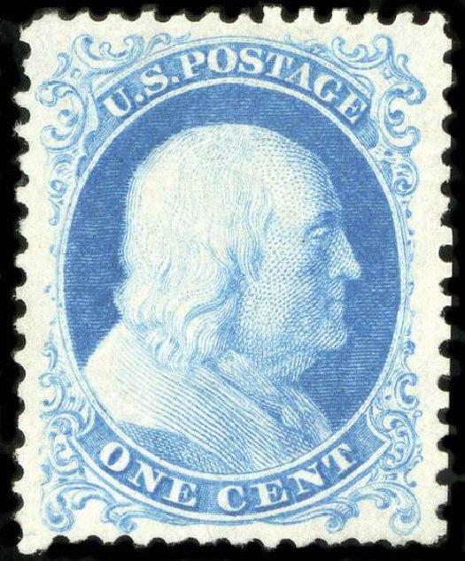 Prices of US Stamps Scott # 40 - 1c 1875 Franklin Reprint. Spink Shreves Galleries, Jul 2015, Sale 151, Lot 60
