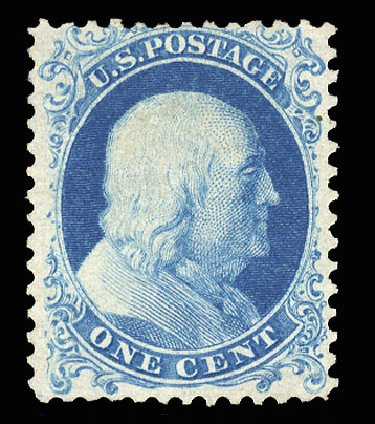 US Stamp Price Scott # 40 - 1875 1c Franklin Reprint. Cherrystone Auctions, May 2015, Sale 201505, Lot 6