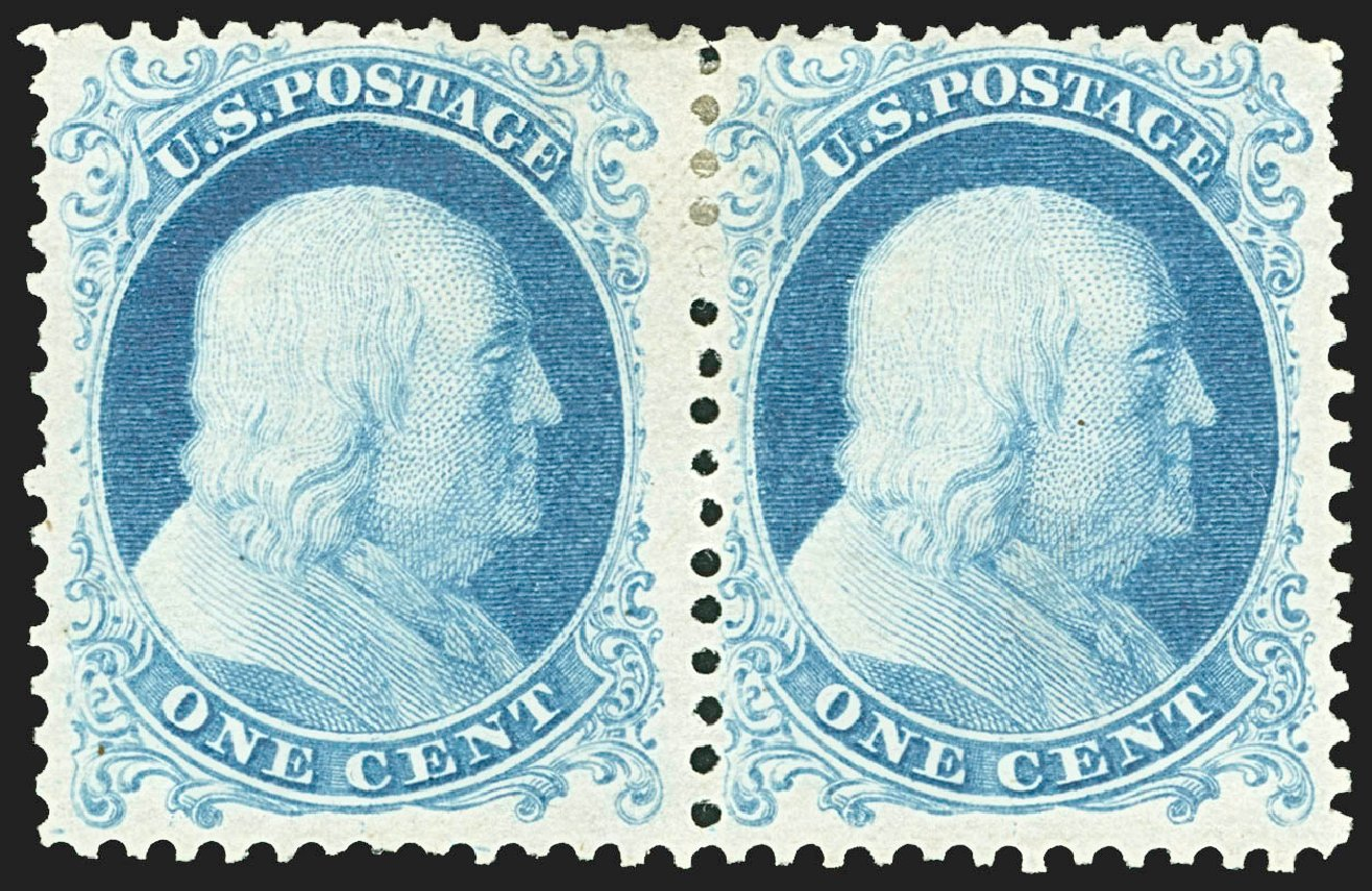 Values of US Stamps Scott Catalog 40 - 1c 1875 Franklin Reprint. Robert Siegel Auction Galleries, Jul 2015, Sale 1107, Lot 106