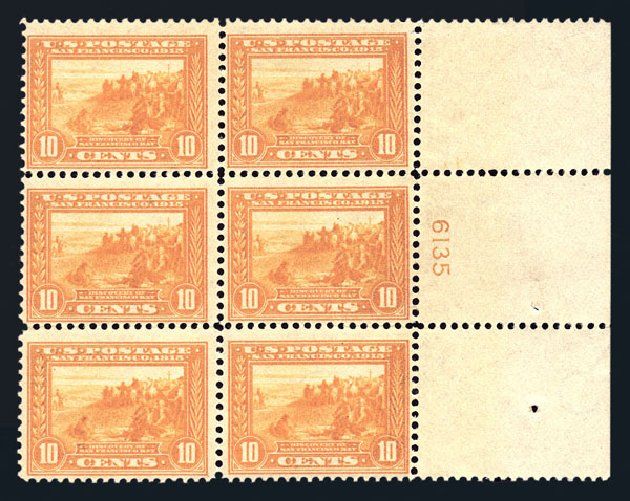 US Stamps Value Scott 400 - 1913 10c Panama-Pacific Exposition. Harmer-Schau Auction Galleries, Aug 2015, Sale 106, Lot 1797
