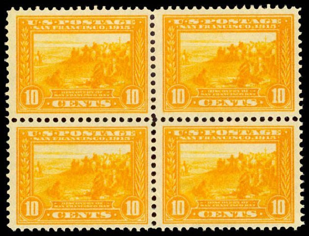 Cost of US Stamp Scott # 400: 10c 1913 Panama-Pacific Exposition. Daniel Kelleher Auctions, Aug 2015, Sale 672, Lot 2707
