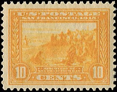 US Stamps Prices Scott Catalog 400: 10c 1913 Panama-Pacific Exposition. Regency-Superior, Nov 2014, Sale 108, Lot 797