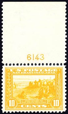 US Stamp Price Scott Catalogue #400 - 1913 10c Panama-Pacific Exposition. Schuyler J. Rumsey Philatelic Auctions, Apr 2015, Sale 60, Lot 2807