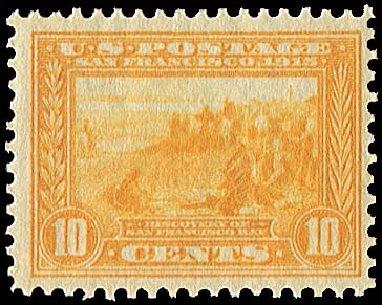Values of US Stamps Scott #400: 10c 1913 Panama-Pacific Exposition. Regency-Superior, Jan 2015, Sale 109, Lot 1179