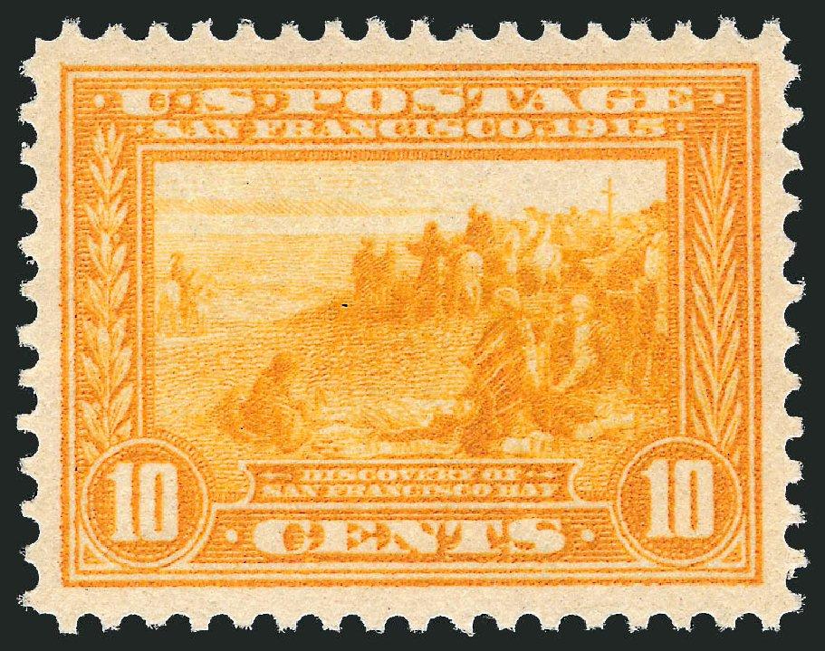 US Stamps Values Scott #400: 1913 10c Panama-Pacific Exposition. Robert Siegel Auction Galleries, Feb 2015, Sale 1093, Lot 239