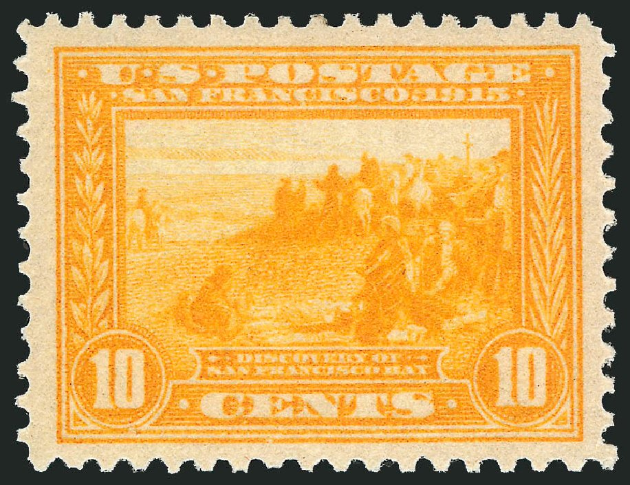 US Stamps Values Scott Cat. 400: 10c 1913 Panama-Pacific Exposition. Robert Siegel Auction Galleries, Jun 2015, Sale 1100, Lot 84