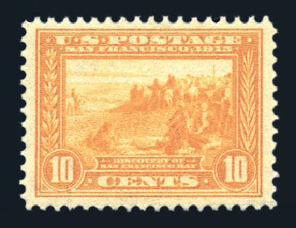 US Stamps Value Scott 400: 10c 1913 Panama-Pacific Exposition. Harmer-Schau Auction Galleries, Aug 2015, Sale 106, Lot 1795