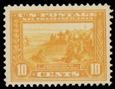 Prices of US Stamps Scott Cat. #400: 1913 10c Panama-Pacific Exposition. Daniel Kelleher Auctions, May 2015, Sale 669, Lot 2972