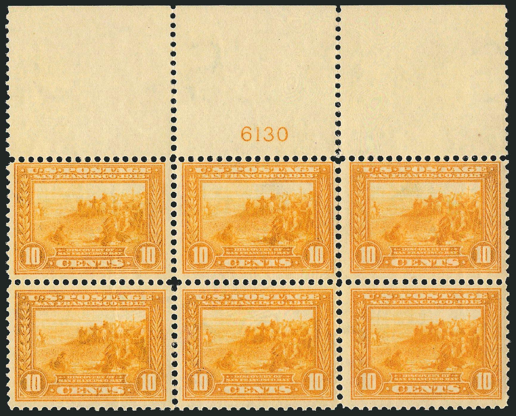 Value of US Stamps Scott Cat. #400: 10c 1913 Panama-Pacific Exposition. Robert Siegel Auction Galleries, Oct 2014, Sale 1082, Lot 452