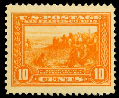 Value of US Stamp Scott Catalogue # 400A: 1913 10c Panama-Pacific Exposition. Daniel Kelleher Auctions, Aug 2015, Sale 672, Lot 2708