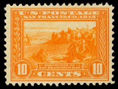 Values of US Stamps Scott Cat. #400A: 1913 10c Panama-Pacific Exposition. Daniel Kelleher Auctions, Dec 2014, Sale 661, Lot 330