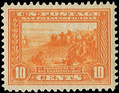 Value of US Stamps Scott Catalog 400A: 1913 10c Panama-Pacific Exposition. Regency-Superior, Nov 2014, Sale 108, Lot 800