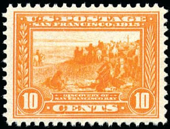 Value of US Stamp Scott Cat. #400A: 10c 1913 Panama-Pacific Exposition. Schuyler J. Rumsey Philatelic Auctions, Apr 2015, Sale 60, Lot 2370