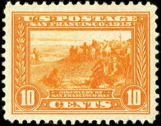 US Stamps Values Scott Catalogue #400A: 10c 1913 Panama-Pacific Exposition. Spink Shreves Galleries, Jul 2015, Sale 151, Lot 290