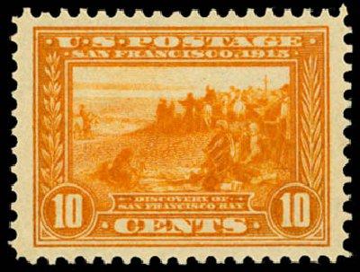 US Stamp Values Scott Catalogue 400A: 10c 1913 Panama-Pacific Exposition. Daniel Kelleher Auctions, May 2014, Sale 653, Lot 2231