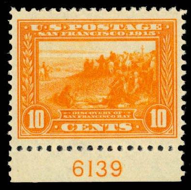 US Stamp Price Scott Catalogue # 400A - 1913 10c Panama-Pacific Exposition. Daniel Kelleher Auctions, Jan 2015, Sale 663, Lot 1754