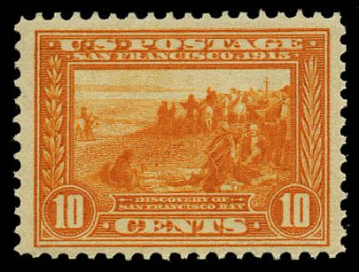 Prices of US Stamp Scott Catalogue #400A: 1913 10c Panama-Pacific Exposition. Daniel Kelleher Auctions, May 2015, Sale 669, Lot 2974