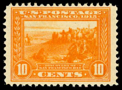 US Stamps Price Scott 400A - 1913 10c Panama-Pacific Exposition. Daniel Kelleher Auctions, May 2015, Sale 669, Lot 2975