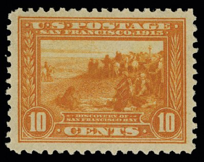 Price of US Stamp Scott Cat. 400A: 10c 1913 Panama-Pacific Exposition. H.R. Harmer, May 2014, Sale 3005, Lot 1263