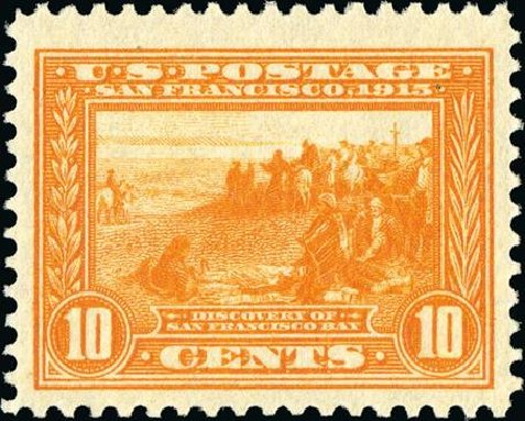 Prices of US Stamps Scott Catalog 400A - 1913 10c Panama-Pacific Exposition. Spink Shreves Galleries, Jan 2015, Sale 150, Lot 163