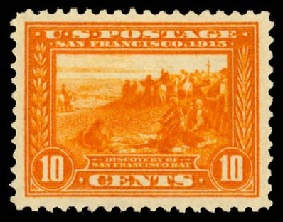 US Stamps Price Scott 400A: 10c 1913 Panama-Pacific Exposition. Daniel Kelleher Auctions, May 2015, Sale 669, Lot 2976