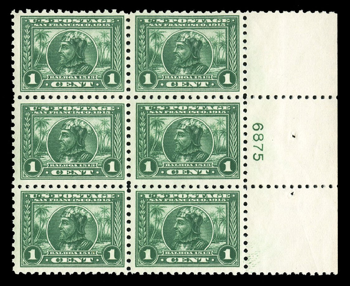Price of US Stamps Scott Cat. #401 - 1c 1915 Panama-Pacific Exposition. Cherrystone Auctions, Jul 2015, Sale 201507, Lot 2148