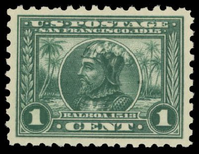 Costs of US Stamp Scott Catalog # 401 - 1c 1915 Panama-Pacific Exposition. Daniel Kelleher Auctions, May 2015, Sale 669, Lot 2978