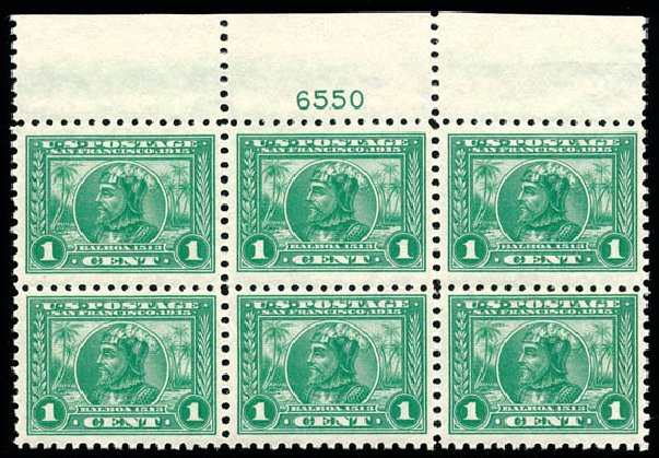Prices of US Stamps Scott Catalog # 401 - 1c 1915 Panama-Pacific Exposition. Schuyler J. Rumsey Philatelic Auctions, Apr 2015, Sale 60, Lot 2918